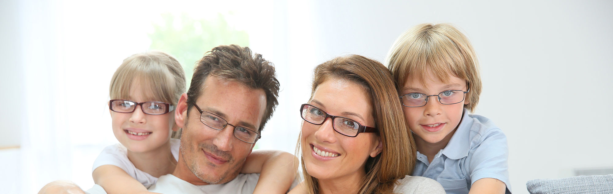 family wearing glasses